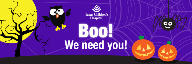 Boo! We need you!